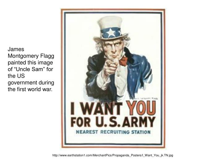 """James Montgomery Flagg painted this image of """"Uncle Sam"""" for the US government during the first world war."""