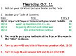 thursday oct 11