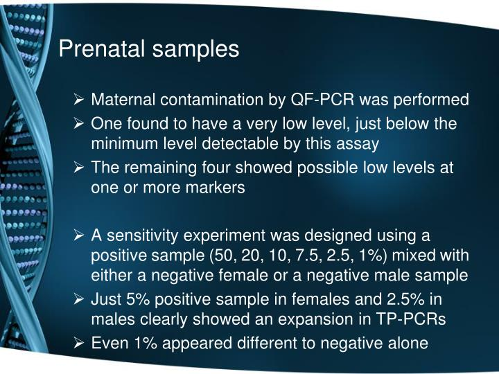 Prenatal samples