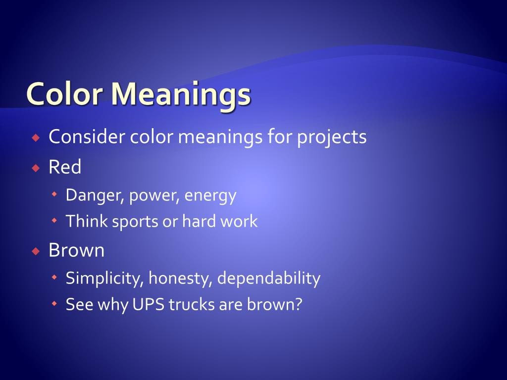 PPT - Meaning of Colors PowerPoint Presentation - ID:2760871