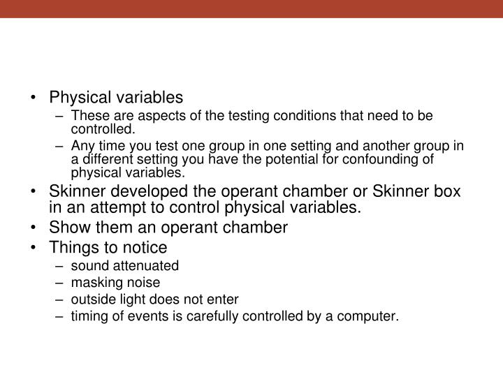 Physical variables