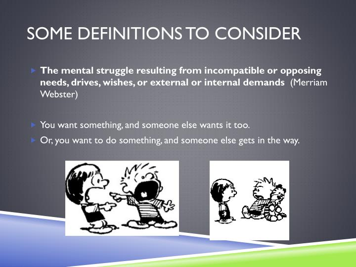 Some Definitions to consider