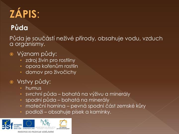 ZÁPIS