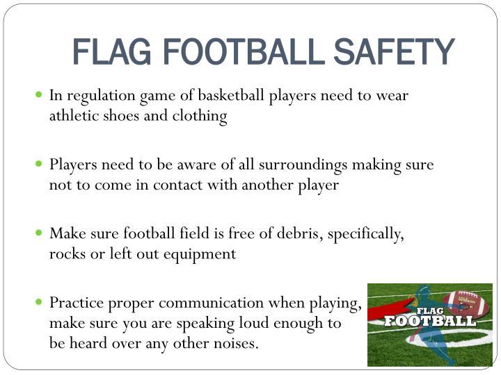 FLAG FOOTBALL SAFETY