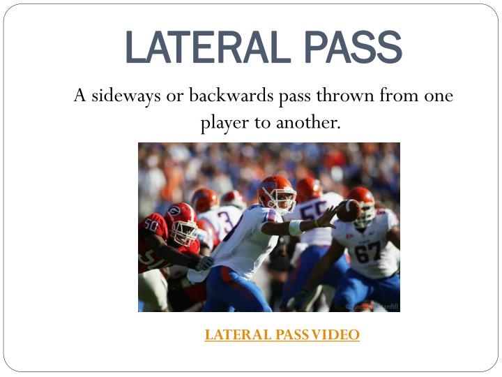 LATERAL PASS
