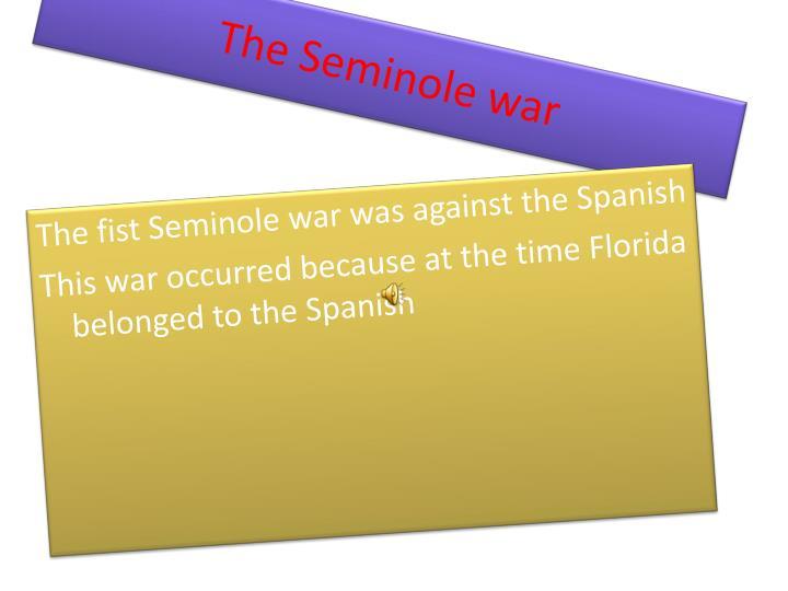 The Seminole war
