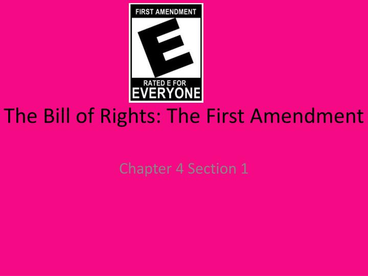 the bill of rights the first amendment n.