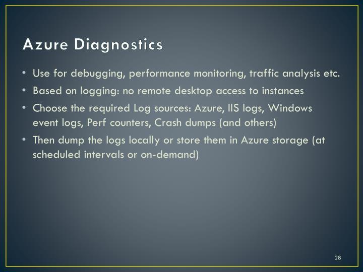 Azure Diagnostics