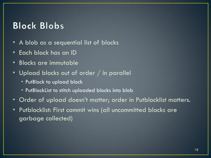 Block Blobs