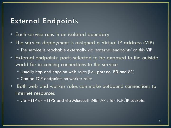 External Endpoints