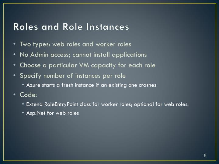 Roles and Role Instances