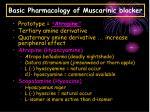 basic pharmacology of muscarinic blocker