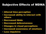 subjective effects of mdma