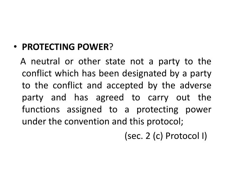 PROTECTING POWER