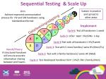 sequential testing scale up