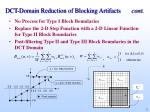 dct domain reduction of blocking artifacts cont
