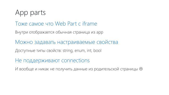 App parts