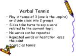 verbal tennis