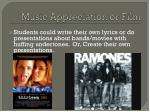 music appreciation or film