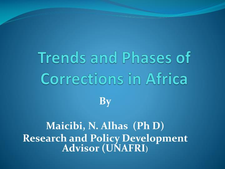 trends and phases of corrections in africa