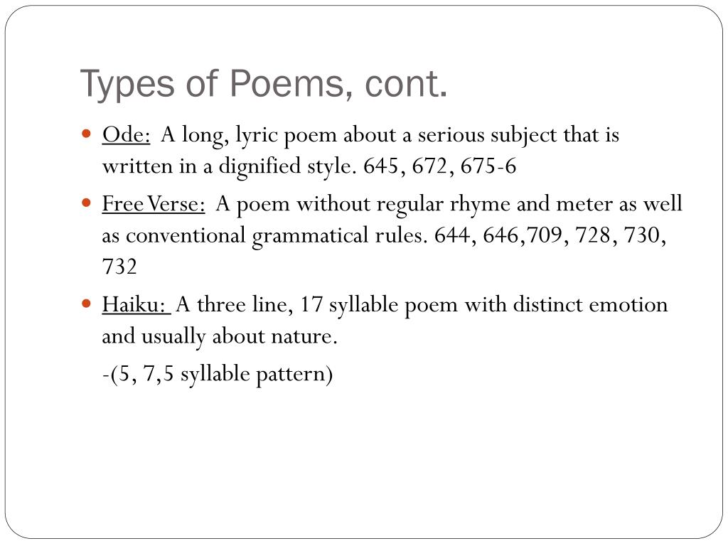 PPT - Poetry Vocabulary PowerPoint Presentation - ID:2762229