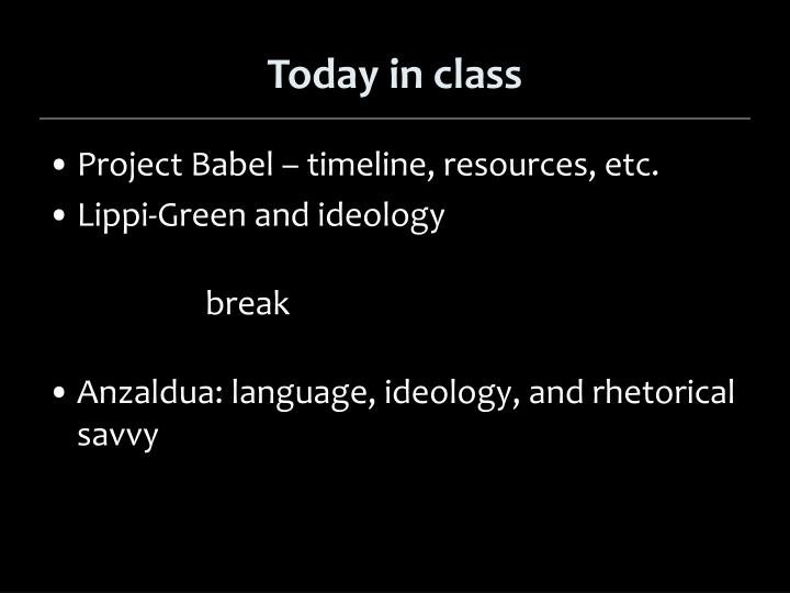 PPT - Today in class PowerPoint Presentation - ID:2762265