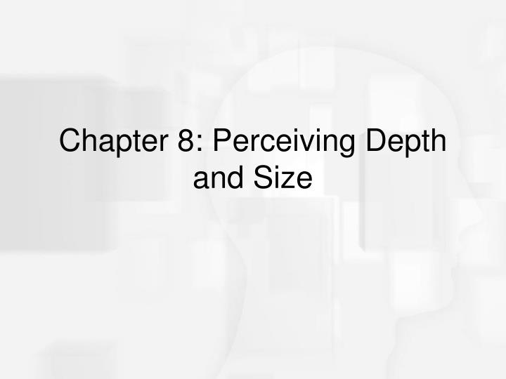 chapter 8 perceiving depth and size n.