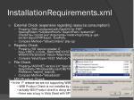 installationrequirements xml1