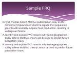 sample frq