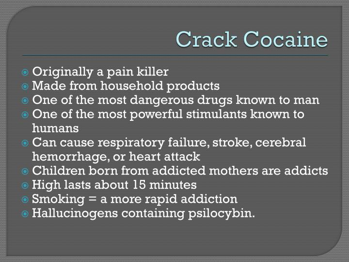 crack cocaine addiction essay Lsd and crack-cocaine essays lsd and crack-cocaine today, the problem of drugs has become one of the most serious ones facing the world and it's youth crack is by no means the only culprit in los angeles' costly plague of crime, addiction and child abuse, stated an article in the los angeles.