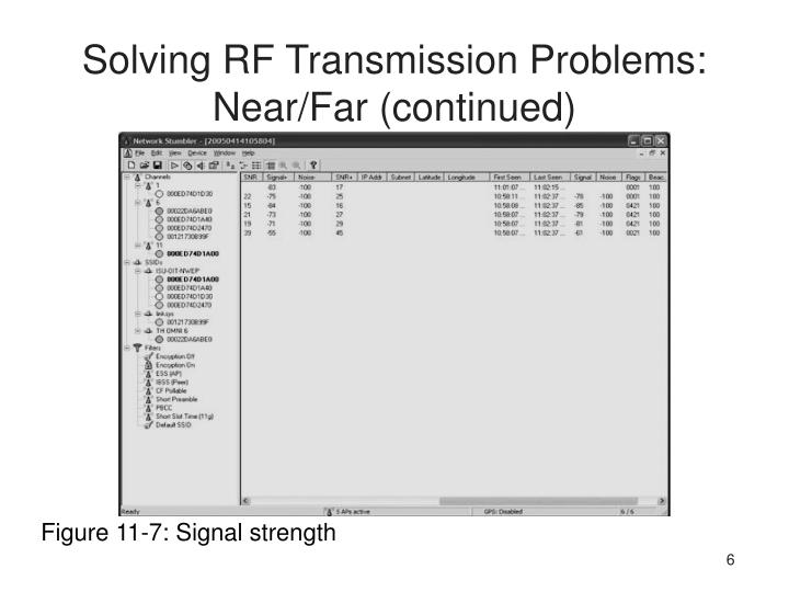 Solving RF Transmission Problems: Near/Far (continued)