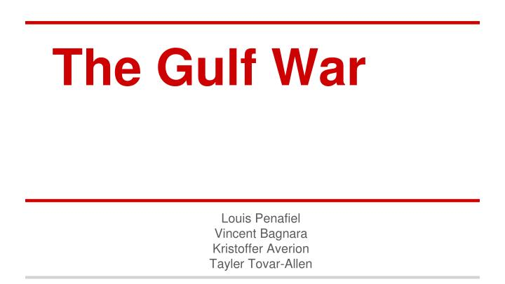 the consequences of the gulf war The gulf war setting 1 in gulf war and health, volume 4, that committee's charge was not to review the scientific evidence on the possible health effects of various agents to which gulf war veterans were potentially exposed, but rather to look at the prevalence of the various health effects seen in gulf war deployed veterans and to.