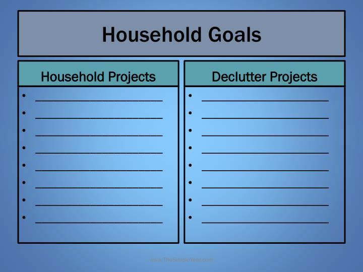 Household goals