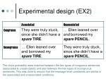 experimental design ex2