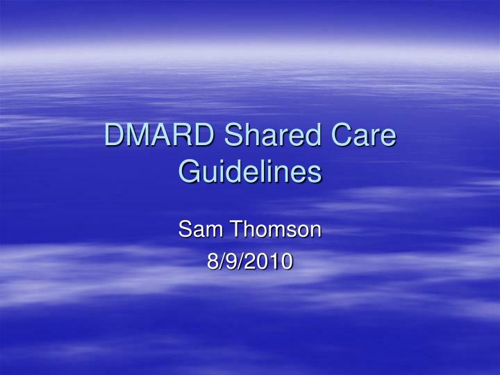 dmard shared care guidelines n.