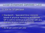 local enhanced services les