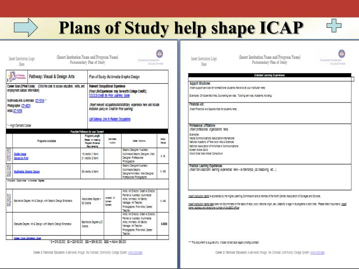 Plans of Study help shape ICAP
