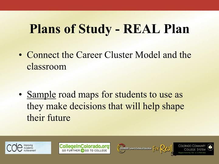 Plans of Study - REAL Plan