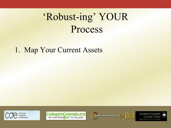'Robust-ing' YOUR