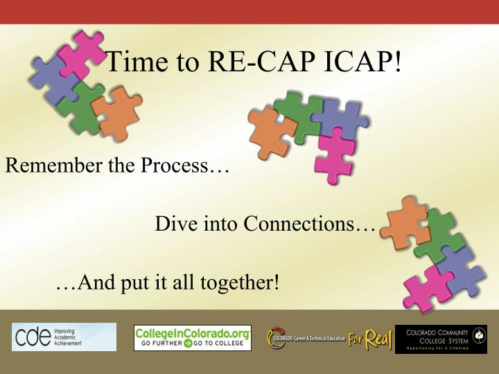 Time to RE-CAP ICAP!