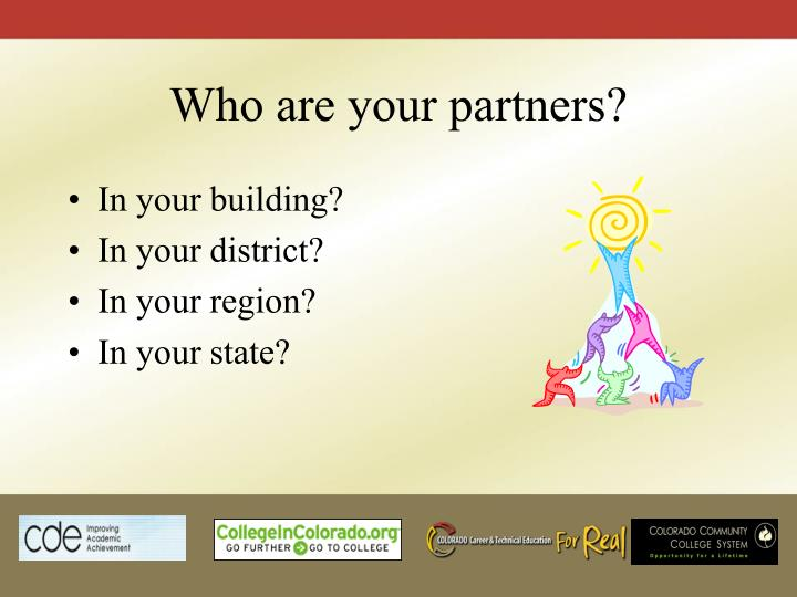 Who are your partners?