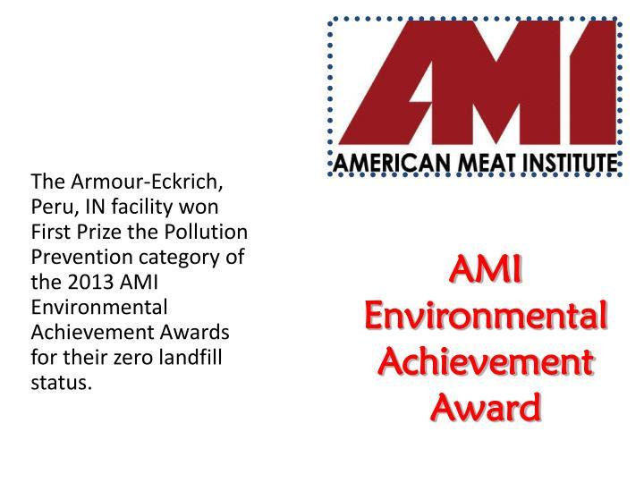 AMI Environmental Achievement Award