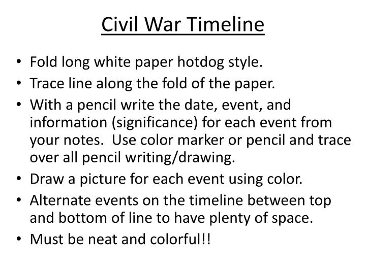 civil war timeline n.