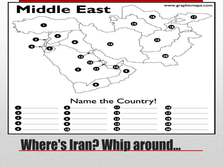 Where s iran whip around