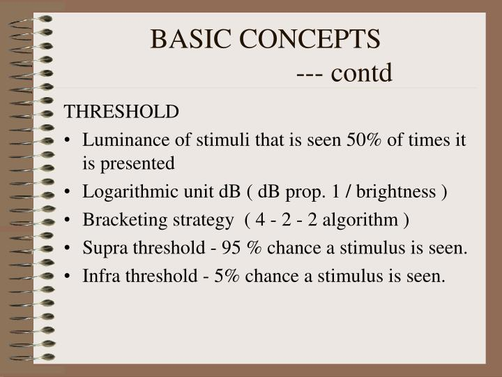 Basic concepts contd