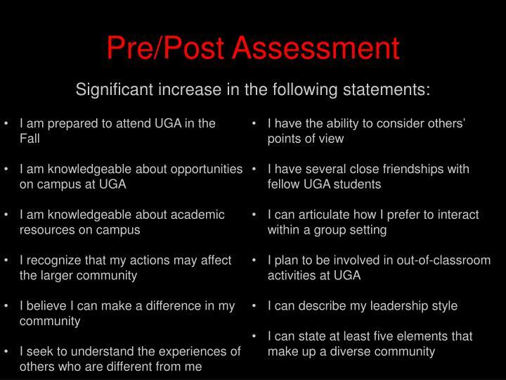Pre/Post Assessment