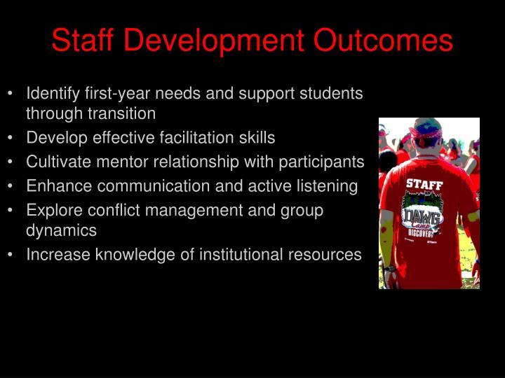 Staff Development Outcomes