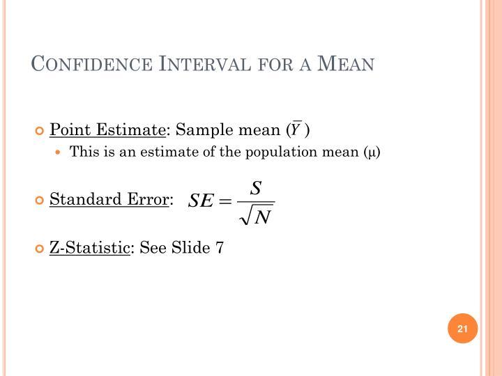 Point Estimate