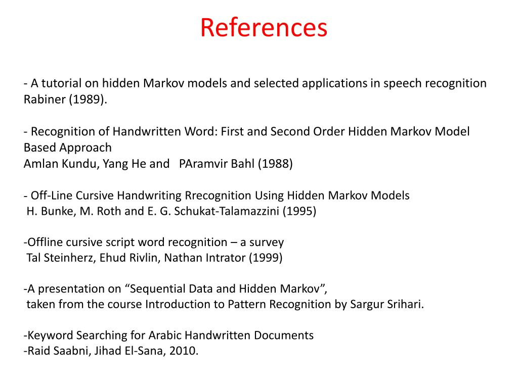 PPT - Hidden Markov Model and some applications in