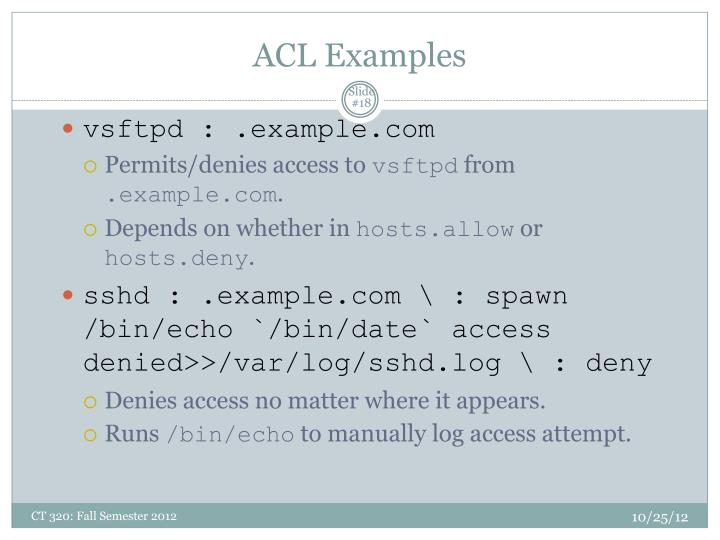 ACL Examples